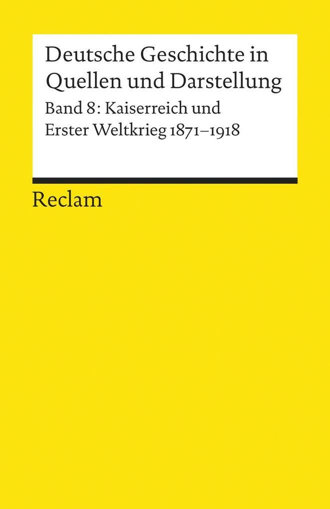 Deutsche Geschichte 8 in Quellen und Darstellungen als Taschenbuch