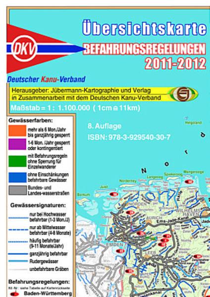 DKV-Übersichtskarte Befahrungsregelungen 2011/2012 als Buch