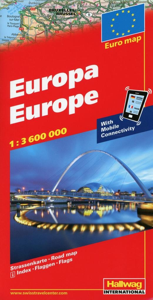 """Europa """"with Mobile Connectivity"""" 1 : 3 600 000 als Buch"""