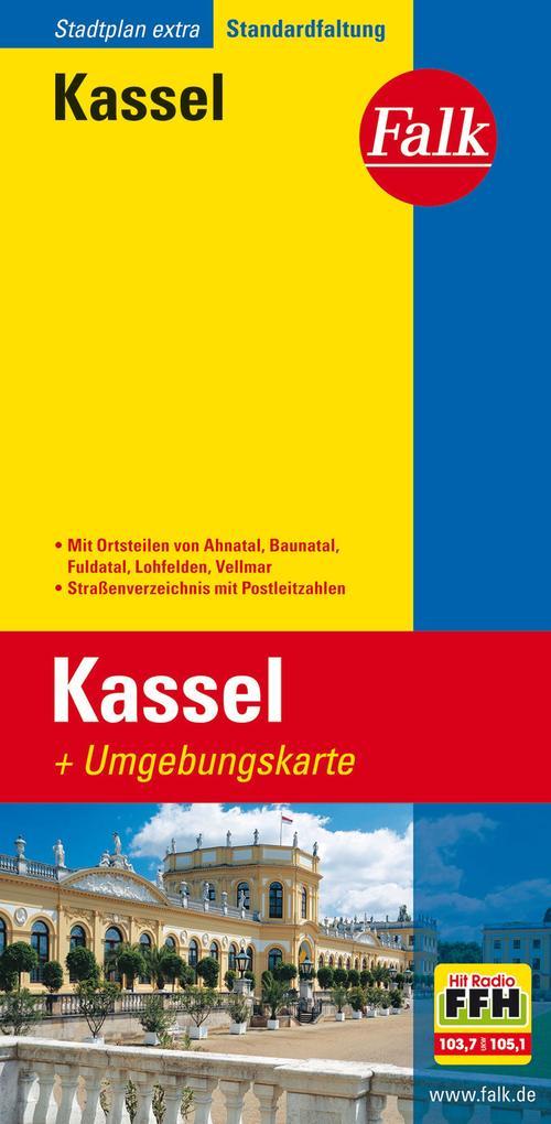 Falk Stadtplan Extra Standardfaltung Kassel 1:17500 als Buch