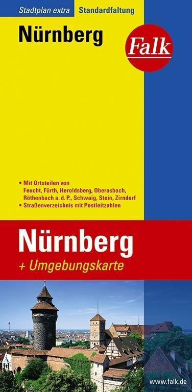 Falk Stadtplan Extra Standardfaltung Nürnberg 1:20 000 als Buch