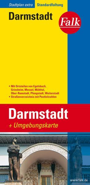 Falk Stadtplan Extra Standardfaltung Darmstadt als Buch