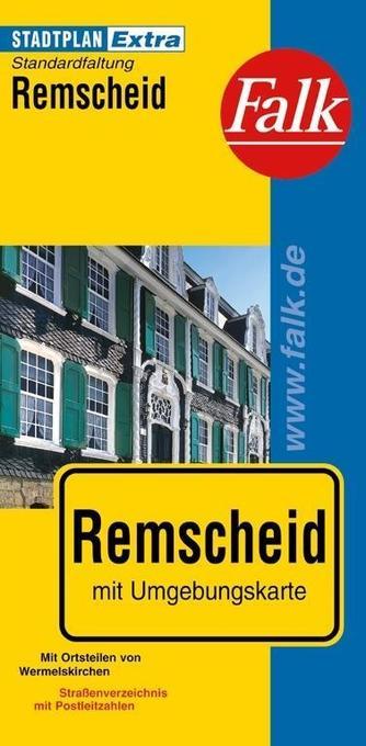 Falk Stadtplan Extra Standardfaltung Remscheid als Buch