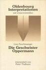 Die Geschwister Oppermann. Interpretationen