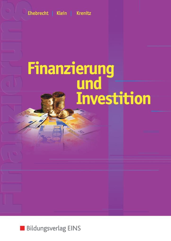 Finanzierung und Investition. Schülerband als Buch