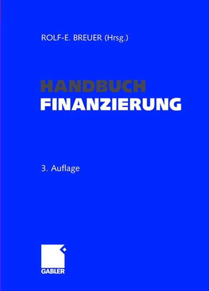 Handbuch Finanzierung als Buch