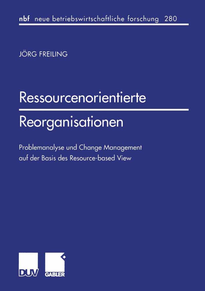 Ressourcenorientierte Reorganisationen als Buch