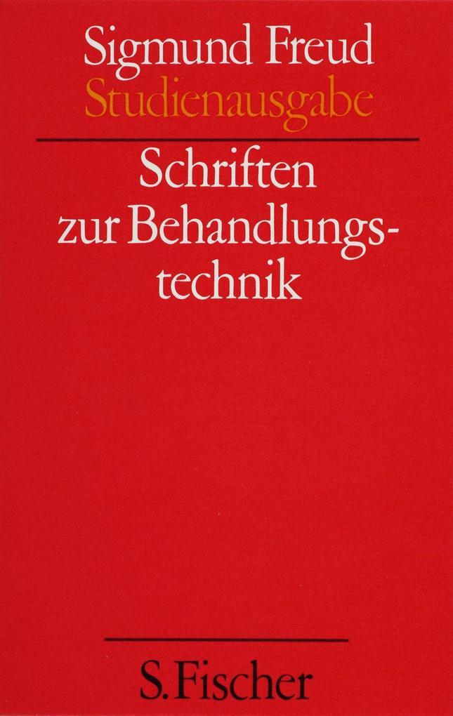 Schriften zur Behandlungstechnik als Buch