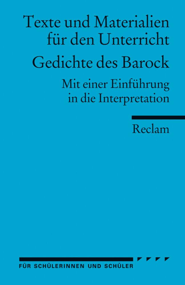 Gedichte des Barock als Taschenbuch