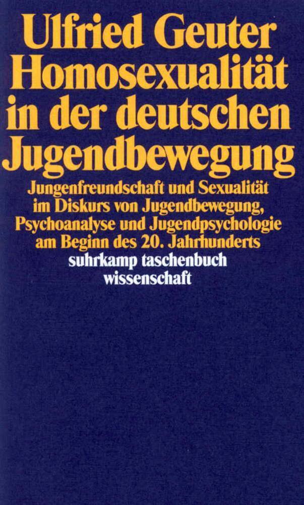 Homosexualität in der deutschen Jugendbewegung als Taschenbuch