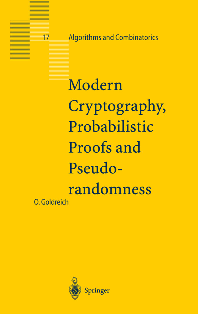 Modern Cryptography, Probabilistic Proofs and Pseudorandomness als Buch