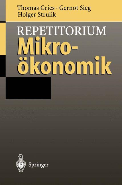 Repetitorium Mikroökonomik als Buch