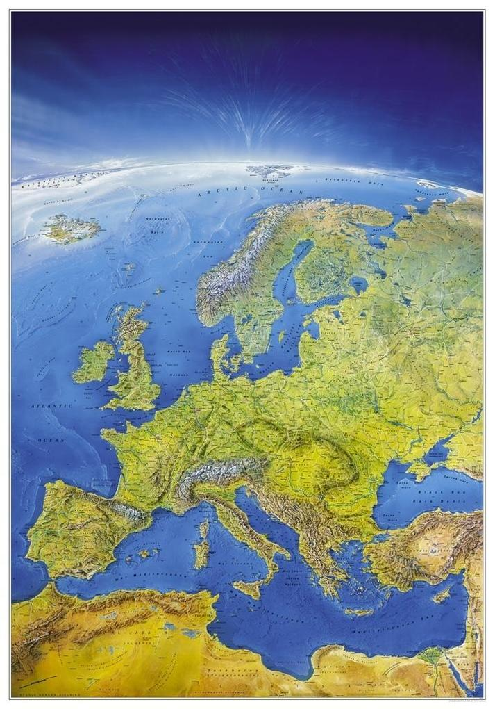 Das Große Europa-Panorama. Poster-Karte als Buch