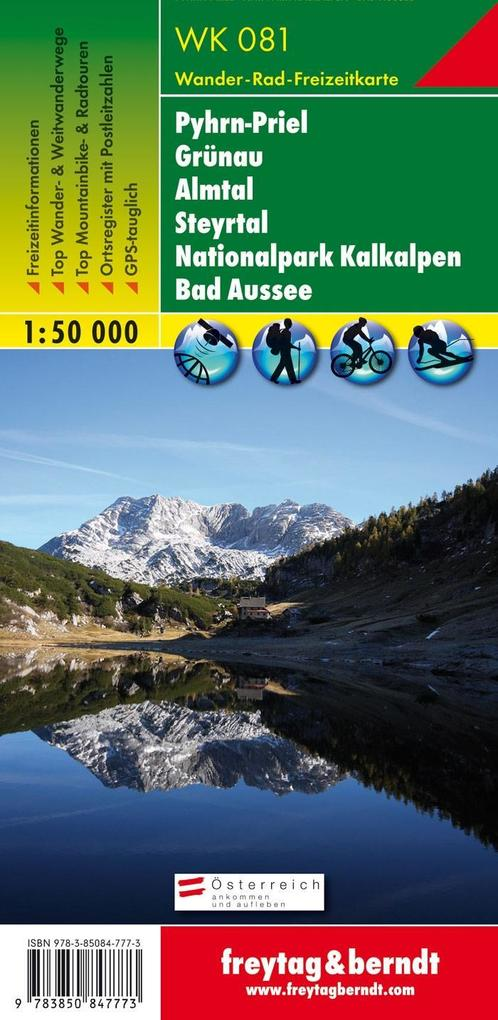 Pyhrn - Priel - Eisenwurzen - Grünau - Almtal - Steyrtal -Nationalpark Kalkalpen - Bad Aussee 1 : 50 000. WK 081 als Buch