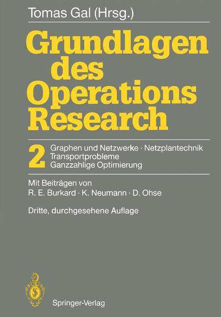 Grundlagen des Operations Research als Buch
