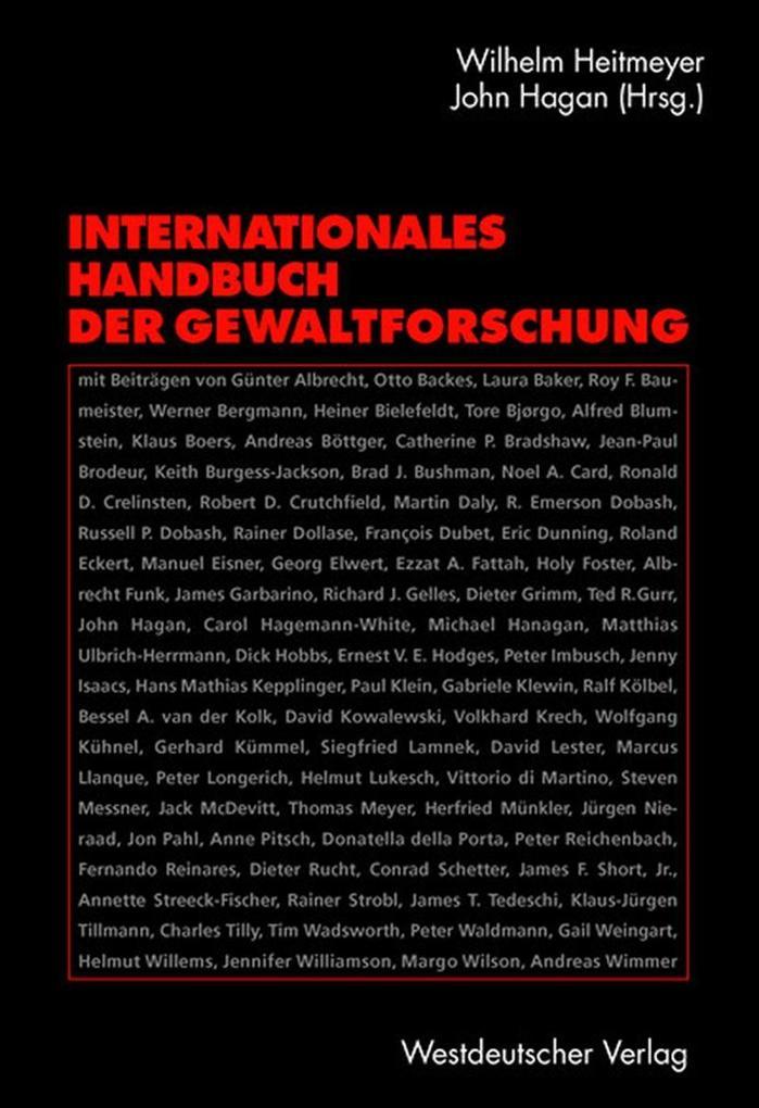 Internationales Handbuch der Gewaltforschung als Buch
