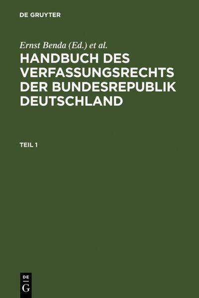 Handbuch des Verfassungsrechts der Bundesrepublik Deutschland als Buch