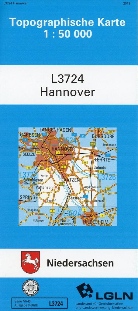 Hannover 1 : 50 000. (TK 3724/N) als Buch