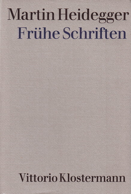 Frühe Schriften als Buch
