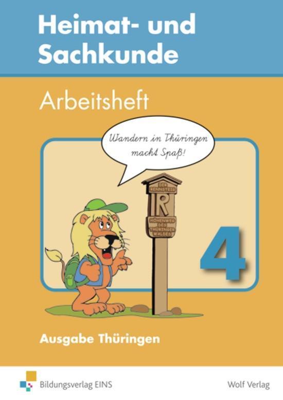 Heimat- und Sachkunde 4. Arbeitsheft. Thüringen. Mit Landkarte als Buch