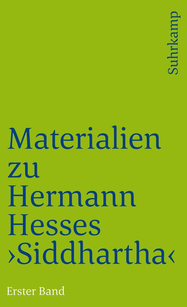 Materialien zu Hermann Hesses »Siddhartha« als Taschenbuch