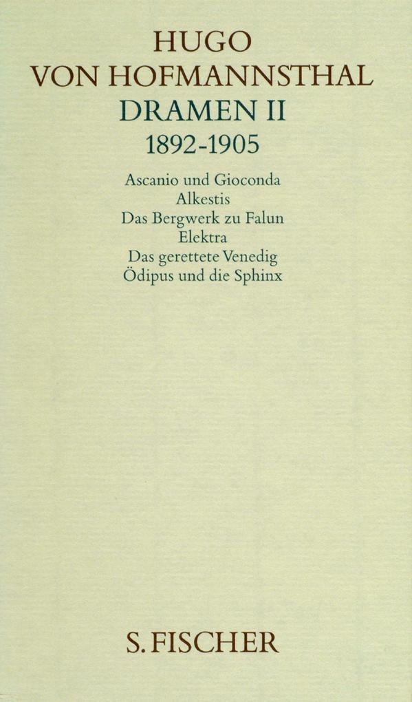 Dramen II (1892 - 1905) als Buch