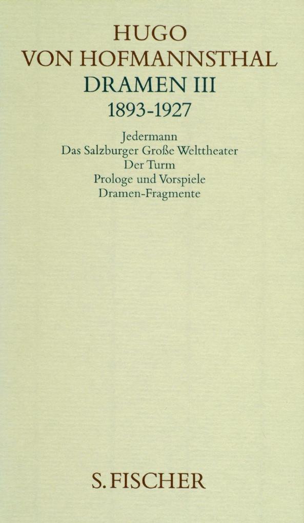 Dramen 3 (1893 - 1927) als Buch