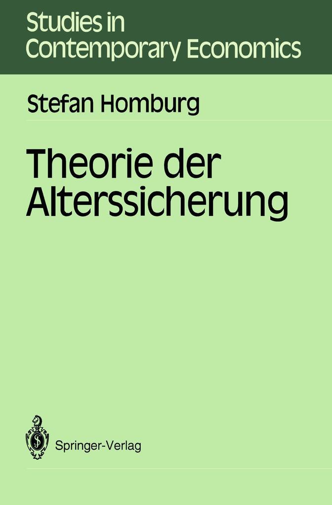 Theorie der Alterssicherung als Buch