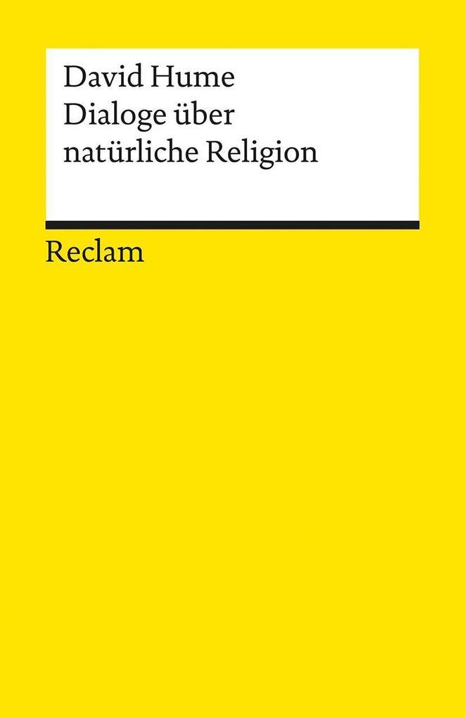 Dialoge über natürliche Religion als Taschenbuch