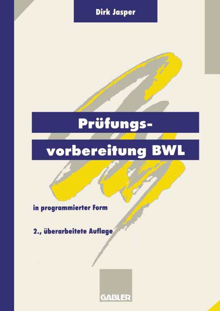 Prüfungsvorbereitung BWL als Buch