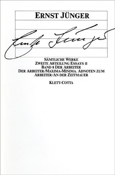Essays II. Der Arbeiter als Buch