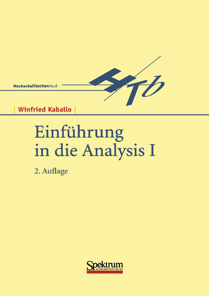 Einführung in die Analysis 1 als Buch