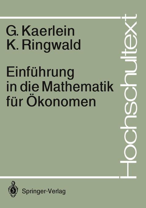 Einführung in die Mathematik für Ökonomen als Buch