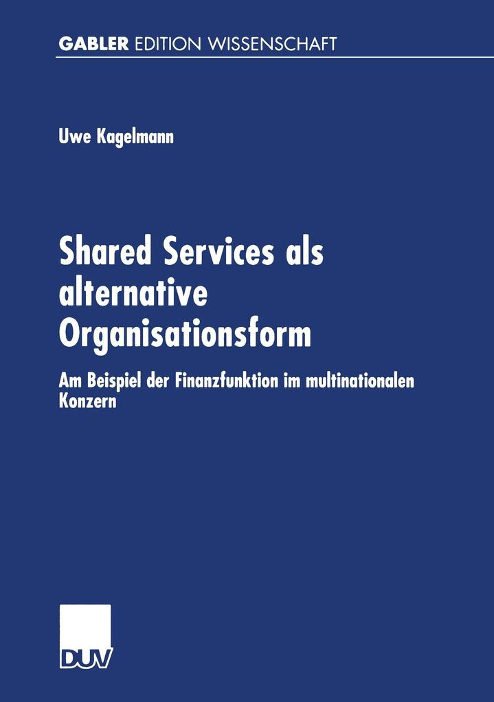 Shared Service als alternative Organisationsform als Buch