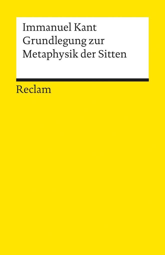 Grundlegung zur Metaphysik der Sitten als Taschenbuch