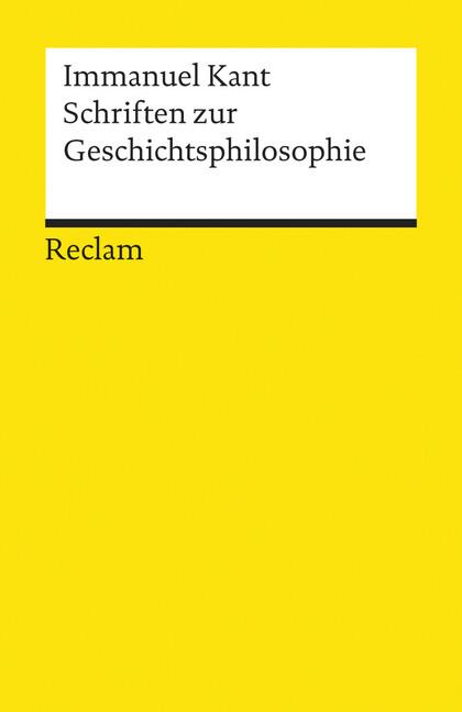 Schriften zur Geschichtsphilosophie als Taschenbuch