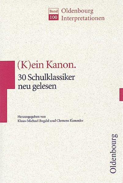 (K)ein Kanon. als Buch