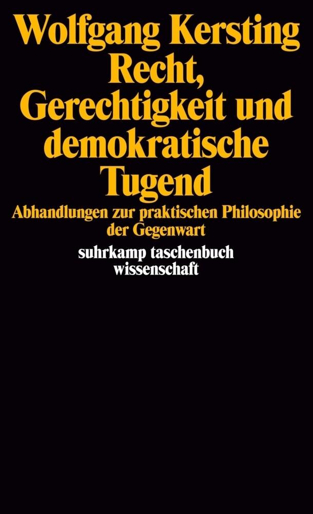 Recht, Gerechtigkeit und demokratische Tugend als Taschenbuch