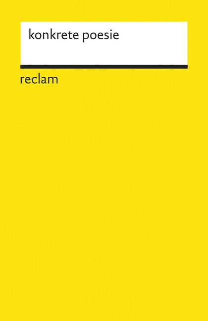Konkrete Poesie als Taschenbuch