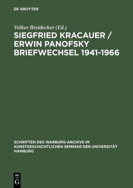 Briefwechsel 1941-1966 Kracauer / Panofsky als Buch