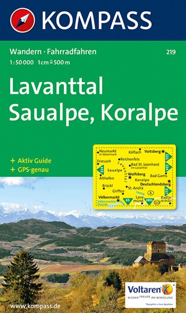 Lavanttal / Saualpe / Koralpe 1 : 50 000 als Buch