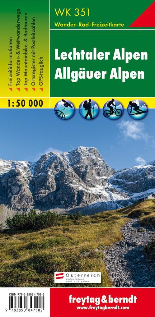 Lechtaler, Allgäuer Alpen 1 : 50 000 als Buch