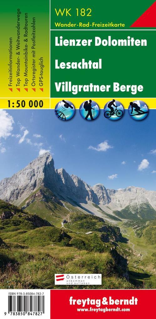 Lienzer Dolomiten, Lesachtal, Villgratental 1 : 50 000. WK 182 als Buch
