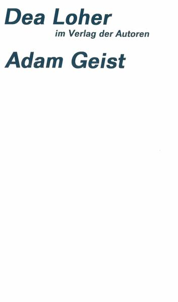 Adam Geist als Buch