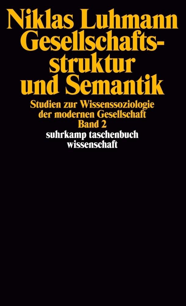 Gesellschaftsstruktur und Semantik 2 als Taschenbuch