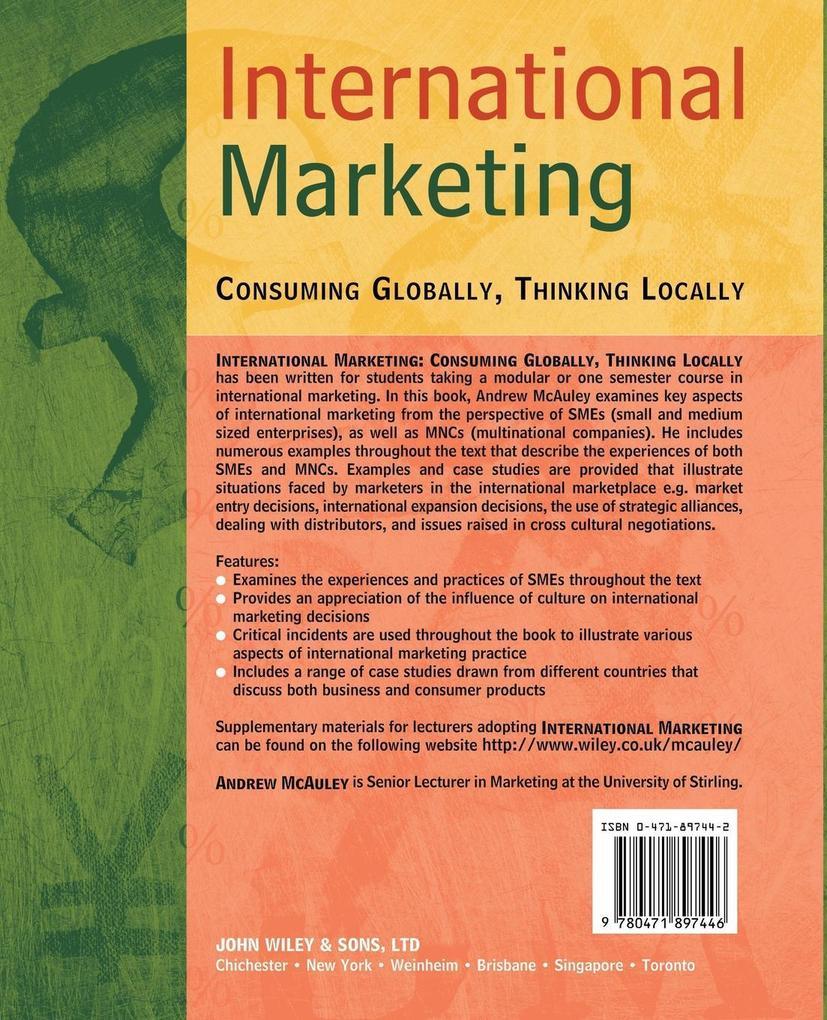 International Marketing: Consuming Globally, Thinking Locally als Buch