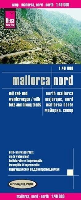 Mallorca Nord Wanderkarte. 1 : 40 000 als Buch