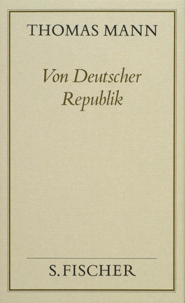 Von deutscher Republik ( Frankfurter Ausgabe) als Buch