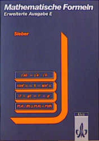 Mathematische Formeln. Formelsammlung E (Erweiterte Ausgabe) als Buch