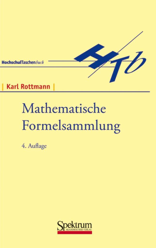 Mathematische Formelsammlung als Buch